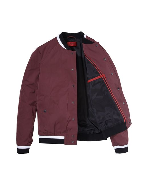 HUGO | College Jacket 'barlin' In A Solid-coloured Design for Men | Lyst