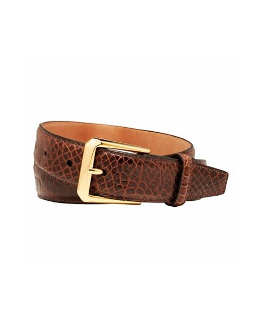 Trafalgar | Brown Alligator Leather Belt for Men | Lyst