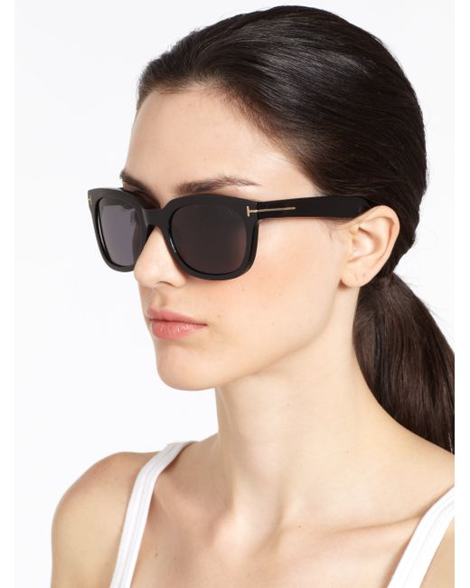 Tom ford Campbell Square Sunglasses in Brown (havana) | Lyst