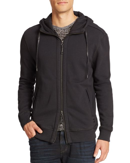 Madison Supply | Black Cotton Zip-up Hoodie for Men | Lyst