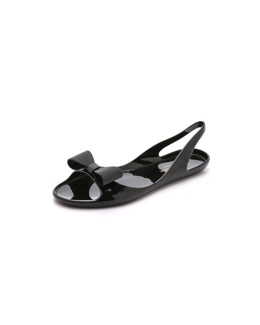 kate spade new york | Black Odessa Jelly Sandals - Navy | Lyst