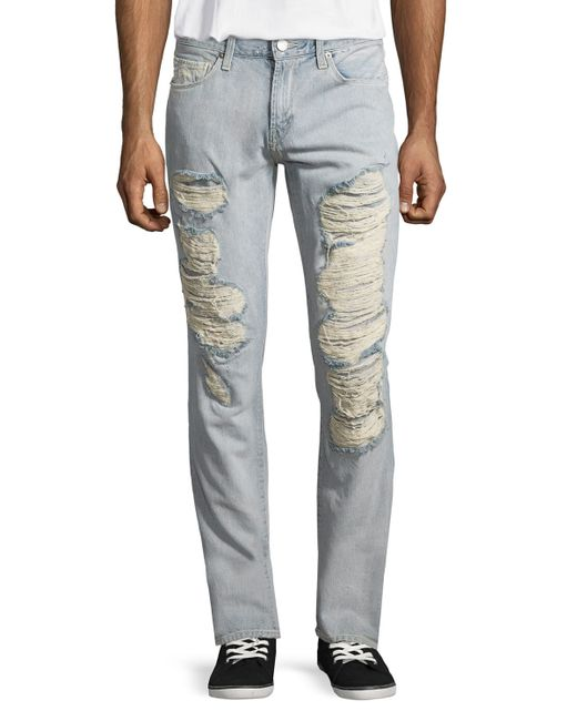 J brand Tyler Thorne Slim Distressed Jeans in Blue for Men ... - photo #42