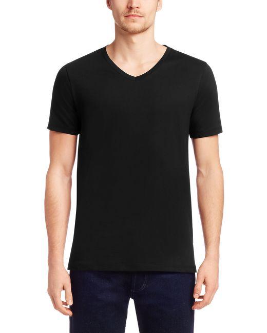 HUGO | Black Plain Slim-fit T-shirt In Cotton: 'danny' for Men | Lyst