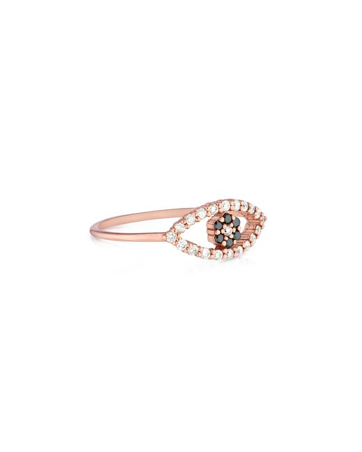 Carbon & Hyde | Pink Evil Eye Mini Ring | Lyst