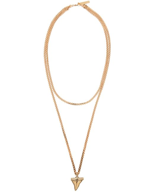 givenchy gold shark tooth necklace in pink lyst
