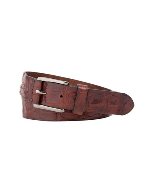 Trafalgar | Brown 'strafford' Crocodile Leather Belt for Men | Lyst