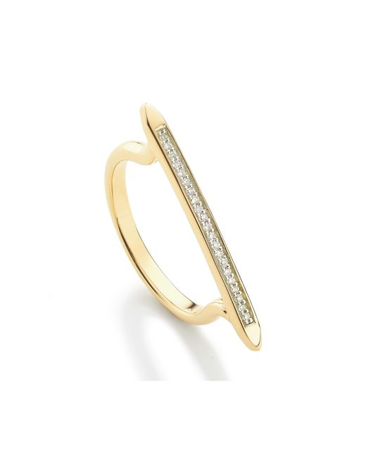 Monica Vinader | Metallic Skinny Stacking Ring | Lyst