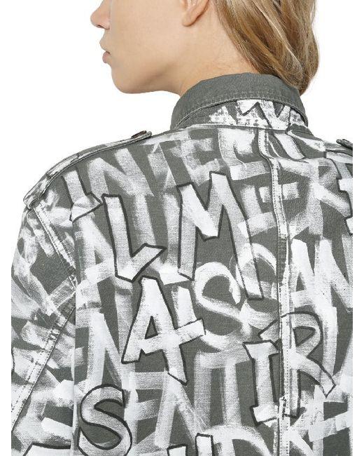 Faith Connexion Graffiti Tag Cotton Canvas Field Jacket In