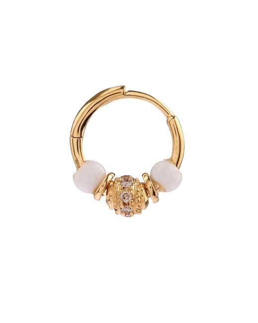 Elise Dray | Metallic Diamond, Agate & Yellow Gold Mini Rock Earring | Lyst