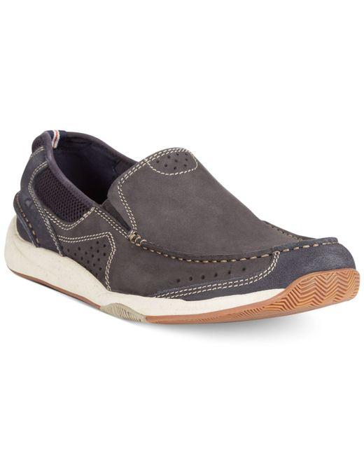 Clarks | Blue Men's Allston Free Slip-on Boat Shoes for Men | Lyst