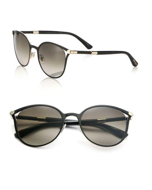 Jimmy Choo | Black Neiza 54mm Round Sunglasses | Lyst