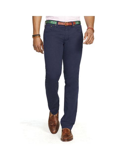 Polo Ralph Lauren | Blue Slim Stretch 5-pocket Pant for Men | Lyst
