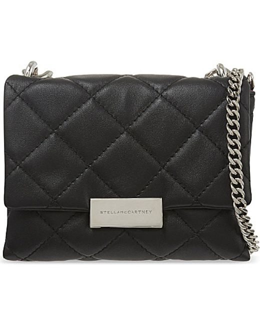 Stella McCartney | Black Beckett Mini Quilted Shoulder Bag | Lyst