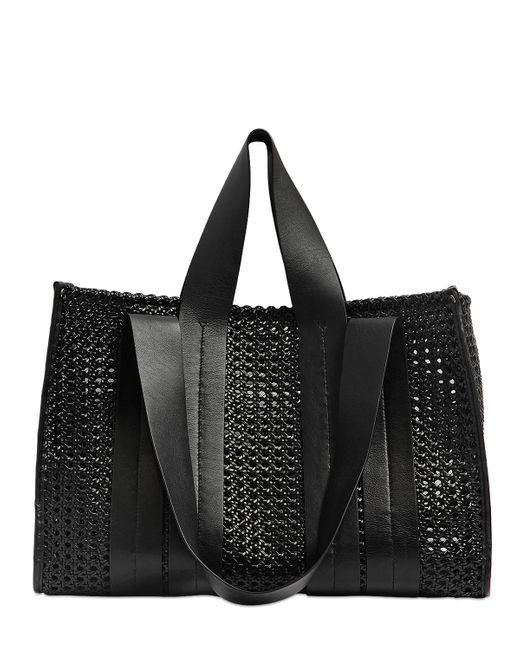 Corto Moltedo | Black Costanza Beach Club Woven Leather Tote | Lyst