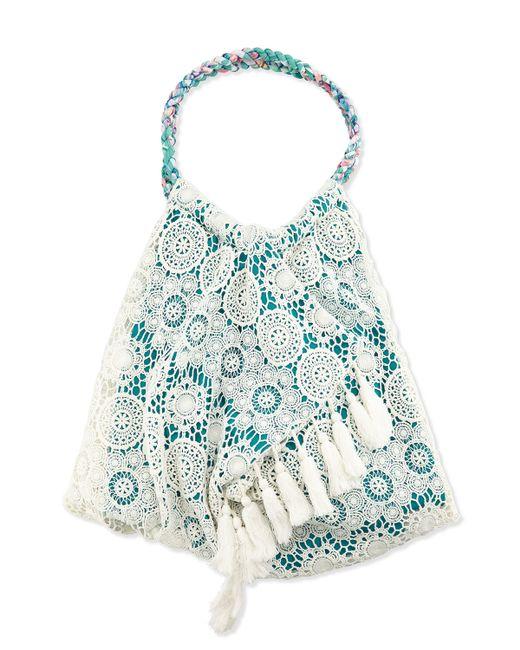 Crochet Tassel Bag : ... Shore Road By Pooja Teal Sunset Crochet-trim Tassel Beach Bag Lyst