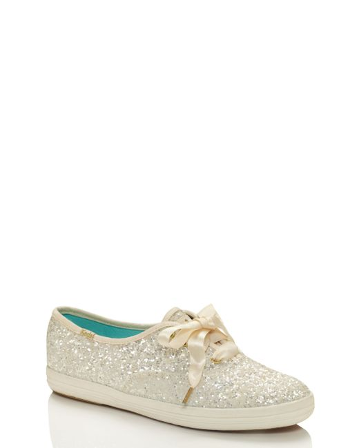 Kate Spade Keds For Glitter Sneakers In White Lyst