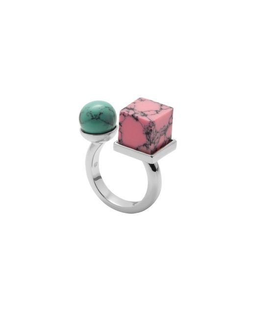 Eshvi | Multicolor Back To School Marble Ring Set | Lyst