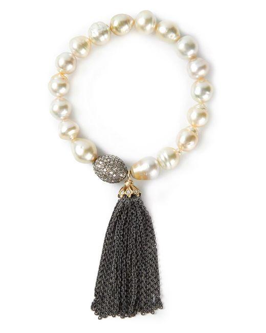 Loree Rodkin | Metallic Pearl Tassel Bracelet | Lyst