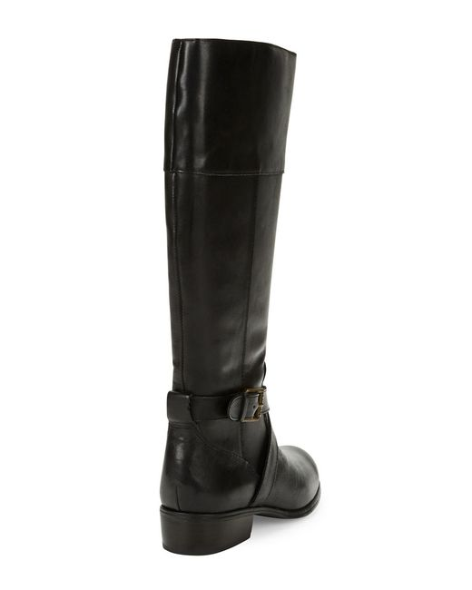 Lauren by Ralph Lauren | Black & Tan Berna Two-Tone Flat Riding Boots | Lyst