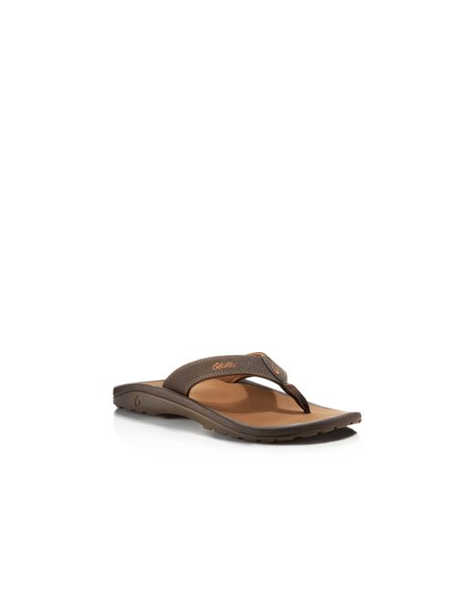 Olukai | Brown Ohana Flip Flops for Men | Lyst