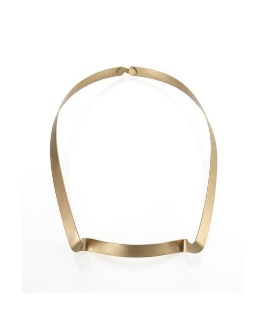 Noritamy | Metallic Large Obi Bracelet With Crystal | Lyst