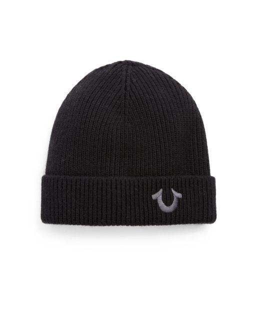 True Religion | Black Logo Knit Watchcap for Men | Lyst