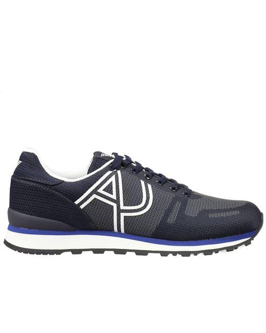 armani jeans giorgio armani men 39 s sneakers in blue for men save 30. Black Bedroom Furniture Sets. Home Design Ideas