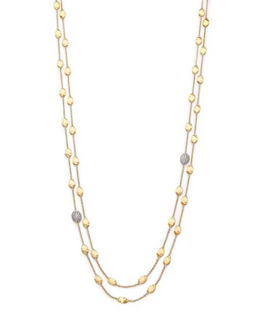 Marco Bicego | Metallic Siviglia Diamond & 18k Yellow Gold Double-wrap Station Necklace | Lyst