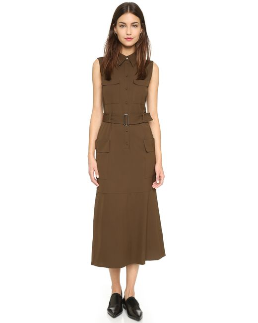 A.L.C.   Green Hayden Utility Dress   Lyst