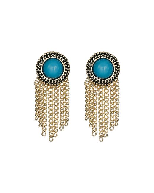 Sam Edelman | Blue Stone Fringe Stud Earrings | Lyst