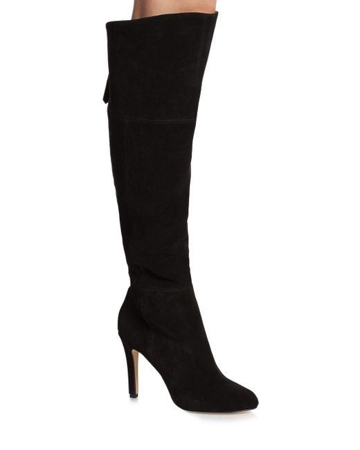 dolce vita kavan suede knee high boots in black save 60