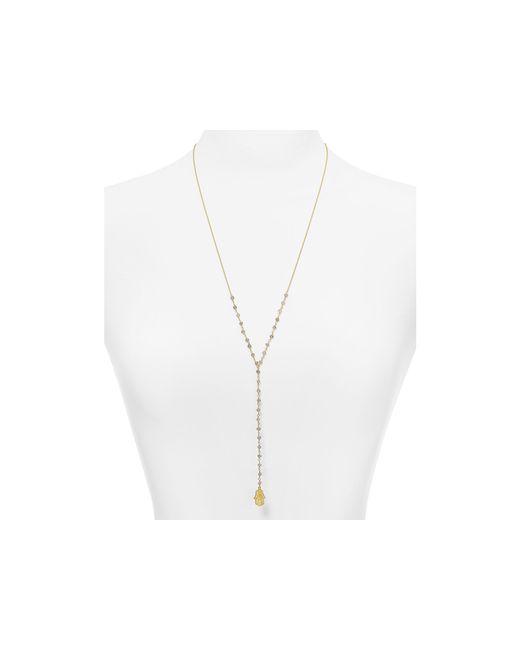 "Argento Vivo | Metallic Labradorite Hamsa Pendant Necklace, 26"" | Lyst"