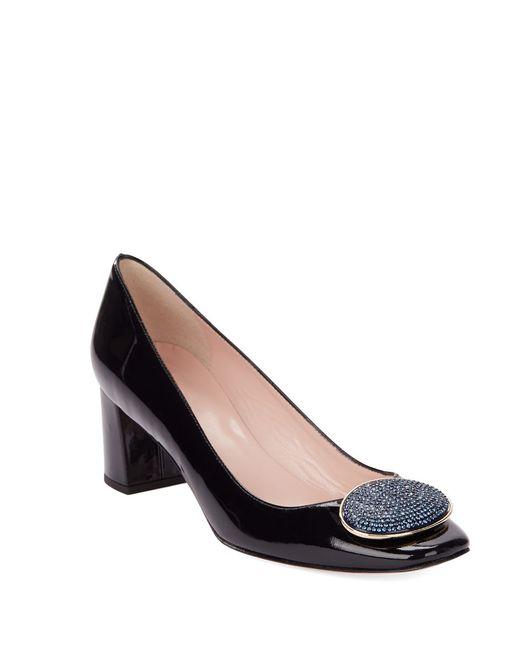 Kate Spade | Blue Dana Leather Slip-on Heels | Lyst