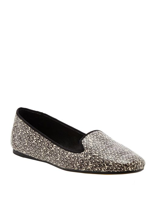 Dolce Vita | Gray Brannon Embossed Leather Loafers | Lyst