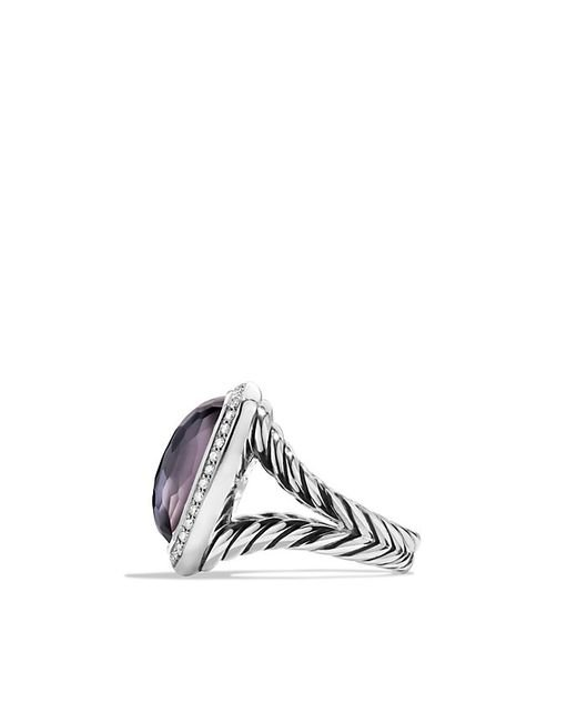 David Yurman | Purple Albion Ring With Black Orchid And Diamonds | Lyst
