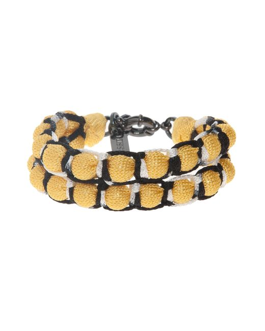 Missoni | Yellow Roped Double Ball Bracelet | Lyst