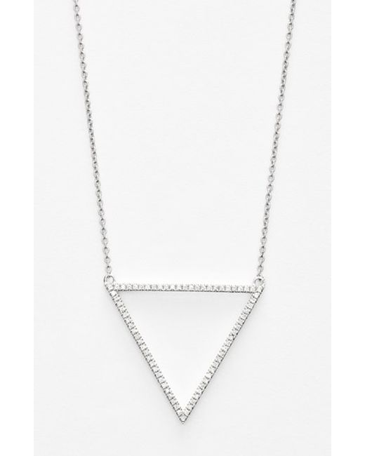 Bony Levy | White 'prism' Diamond Triangle Pendant Necklace (nordstrom Exclusive) | Lyst