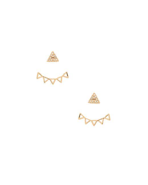 Rebecca Minkoff | Metallic Triangle Stud Earring | Lyst