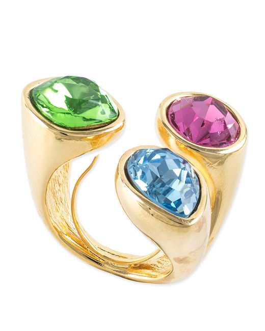 Kenneth Jay Lane   Multicolor Multi Pastel Cluster Stone Ring   Lyst