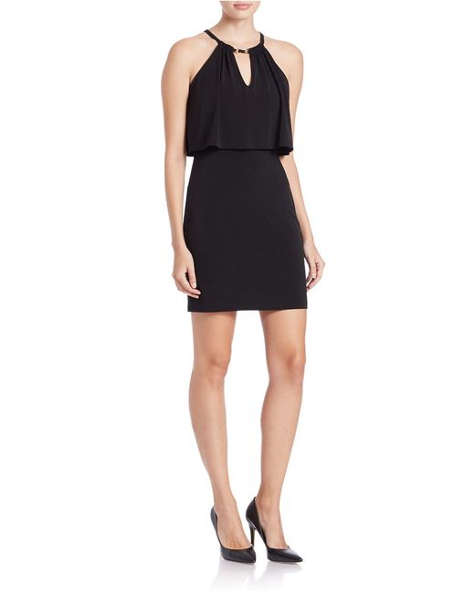 Guess | Black Keyhole Sheath Dress | Lyst