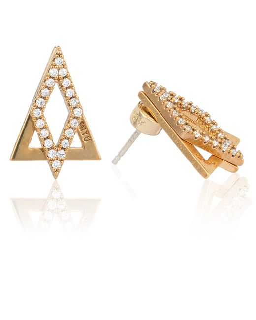 Astrid & Miyu | Metallic Diamond Ear Jacket In Gold | Lyst