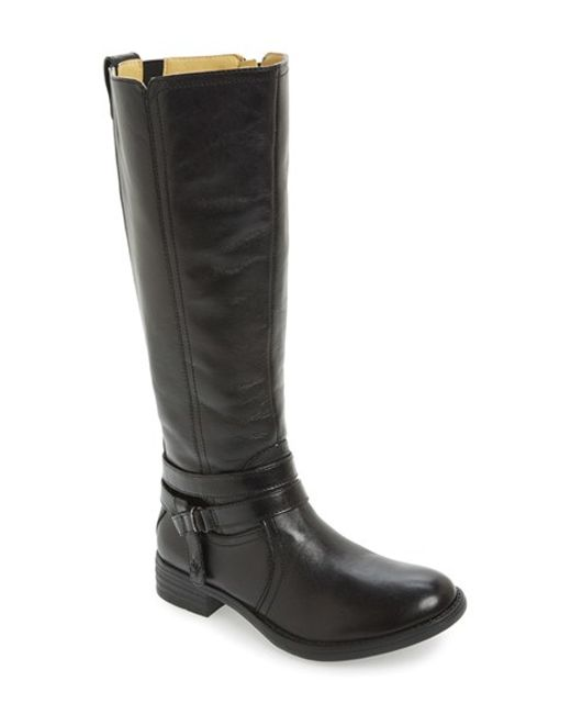 Bussola | Black 'Tracy' Round Toe Boot | Lyst