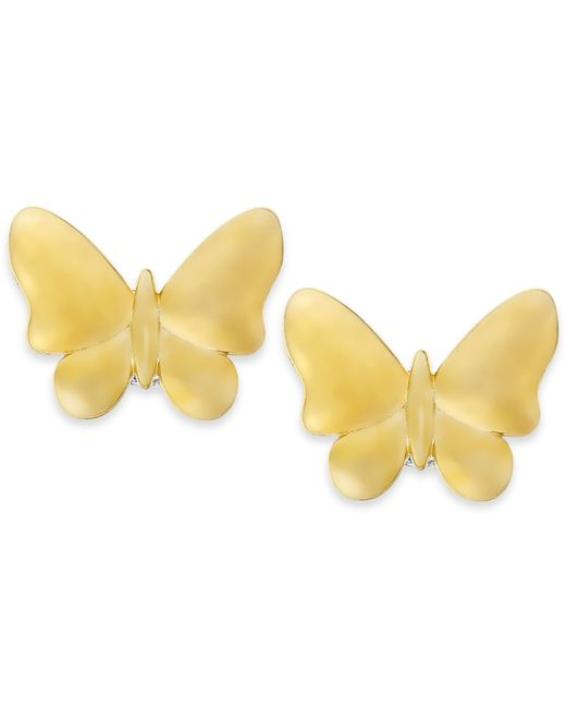 Macy's | Metallic Butterfly Stud Earrings In 10k Gold | Lyst
