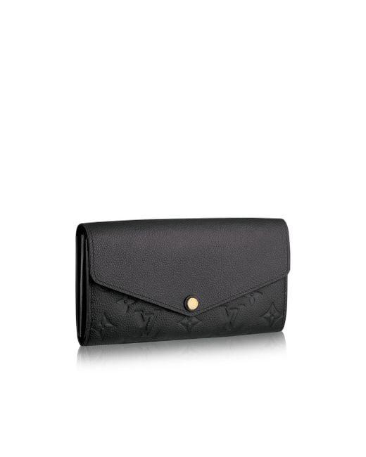 Louis Vuitton   Black Sarah Wallet   Lyst