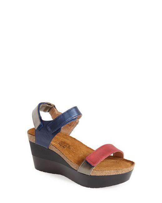 Naot | Blue 'miracle' Sandal | Lyst