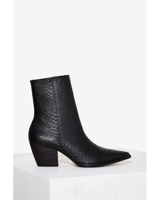 Nasty Gal Matisse Caty Python Boot In Black Save 30 Lyst