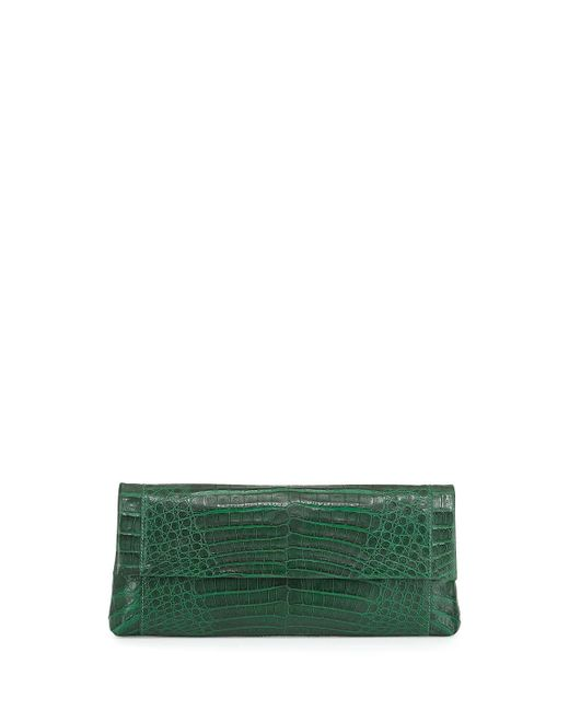 Nancy Gonzalez | Green Gotham Crocodile Flap Clutch Bag | Lyst