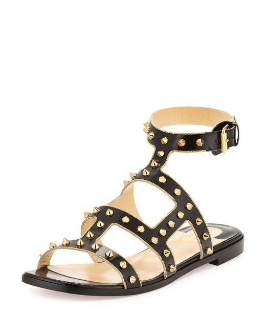 christian louboutin metallic woven slingback sandals