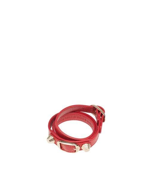 Balenciaga   Red Giant Gold Bracelet Triple Tour   Lyst