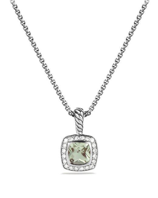 David Yurman | Metallic Petite Albion Pendant With Prasiolite And Diamonds On Chain | Lyst